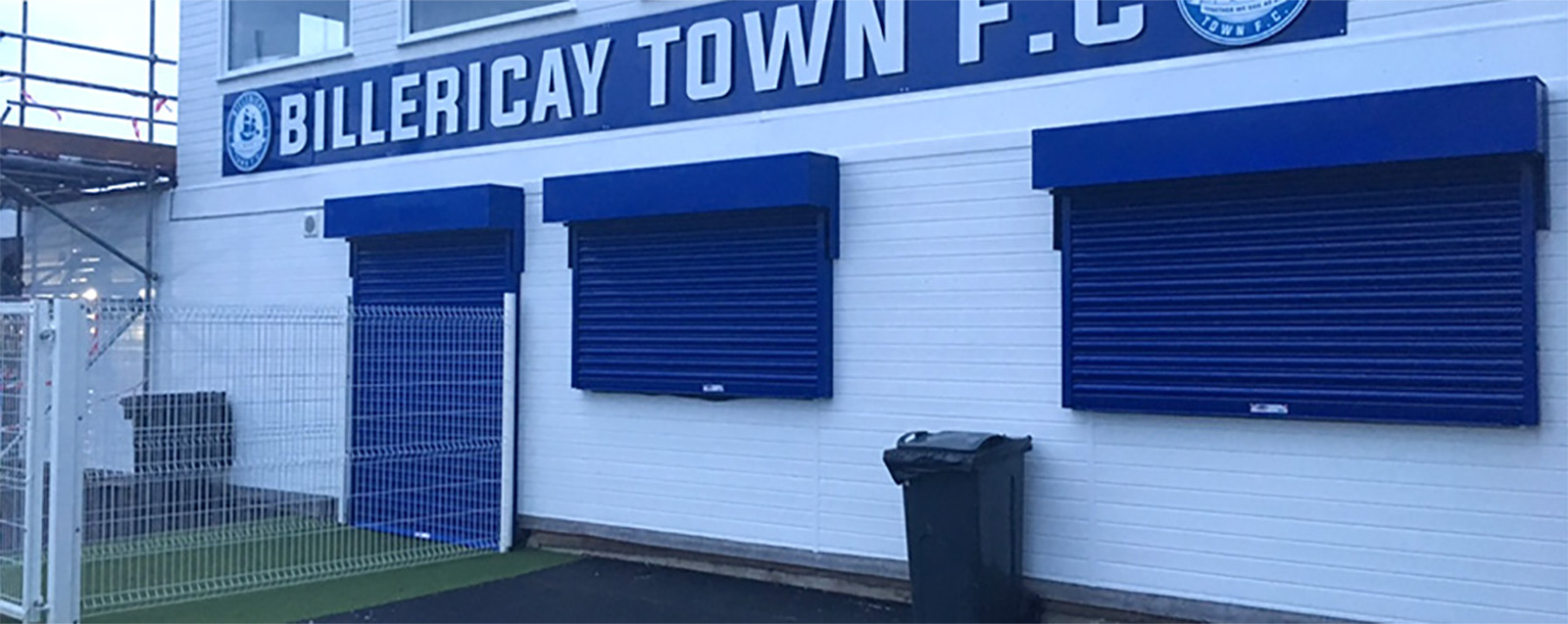 Proud installers of Billericay FC Shutters 2017